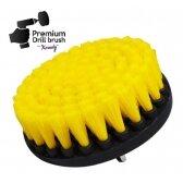Šepetys profesionaliam valymui - minkštas, geltonas, 13 cm