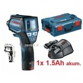 Šilumos detektorius Bosch GIS 1000 C, L-BOXX + 1x 1,5 Ah
