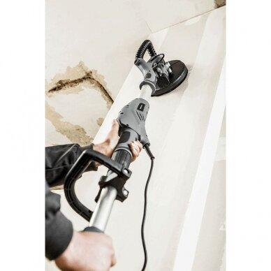 Sienų ir lubų šlifavimo komplektas: šlifavimo mašina (žirafa), siurblys, tekstiliniai maišai GRAPHITE 59G261 ir 59G607 7