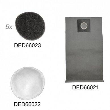 Sienų ir lubų šlifavimo komplektas Dedra: DED6602 + DED7748 4