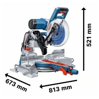 Skersavimo ir suleidimo pjūklas Bosch GCM 10 GDJ Professional 2