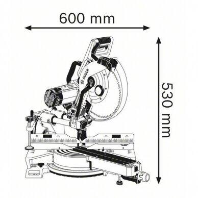 Skersinio pjovimo staklės Bosch GCM 12 SDE Professional 5