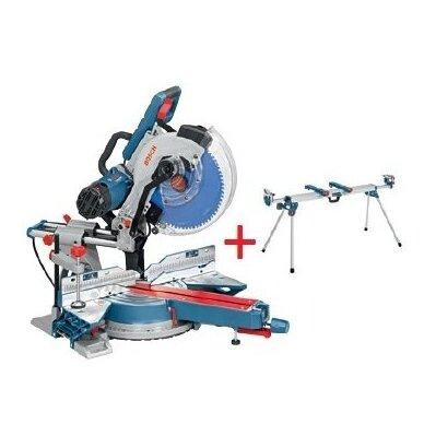 Skersinio pjovimo staklės Bosch GCM 12 SDE Professional + darbo stalas GTA 3800