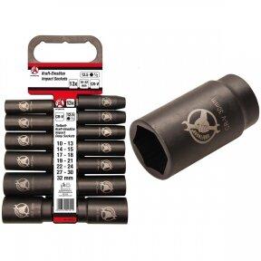 """Smūginių ilgų galvučių rinkinys Kraftmann (1/2"""") 10-32 mm , 13 vnt."""