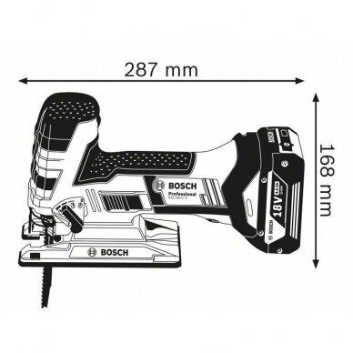 Akumuliatorinis siaurapjūklis Bosch GST 18 V-LI S Professional 2x5.0 + 1x4.0 Ah 3