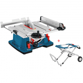 Stacionarus pjovimo stalas Bosch GTS 10 XC Professional + darbo stalas GTA 60 W
