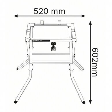 Stacionarus pjovimo stalas Bosch GTS 10 J Professional + darbo stalas GTA 600 4