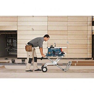 Stacionarus pjovimo stalas Bosch GTS 10 XC Professional + darbo stalas GTA 60 W 6