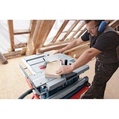 Stacionarus pjovimo stalas Bosch GTS 10 XC Professional + darbo stalas GTA 60 W 8