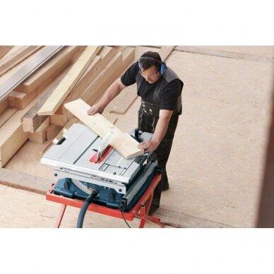 Stacionarus pjovimo stalas Bosch GTS 10 XC Professional + darbo stalas GTA 60 W 11