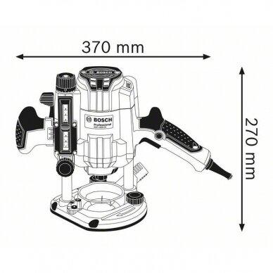 Vertikali freza Bosch GOF 1250 CE Professional 2